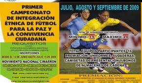 Primer campeonato de integración étnica de fútbol